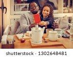 selfie together. african... | Shutterstock . vector #1302648481