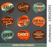 vintage style speech bubbles... | Shutterstock .eps vector #130265201