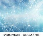 3d render of a network... | Shutterstock . vector #1302654781