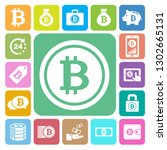 bitcoin icons set. illustration ... | Shutterstock .eps vector #1302665131