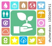 eco icons set.elements of this... | Shutterstock .eps vector #1302665911