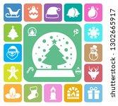 christmas icon set.illustration ... | Shutterstock .eps vector #1302665917