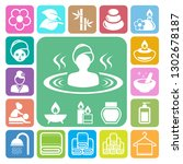 spa icons set .illustration... | Shutterstock .eps vector #1302678187