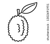 whole raw durian icon. outline... | Shutterstock .eps vector #1302691951