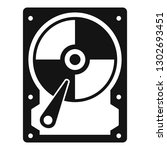 hard disk icon. simple... | Shutterstock .eps vector #1302693451