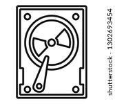 magnetic hard disk icon.... | Shutterstock .eps vector #1302693454