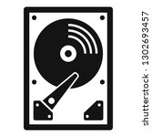 server hard disk icon. simple... | Shutterstock .eps vector #1302693457