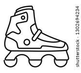 indoor inline skates icon.... | Shutterstock .eps vector #1302694234