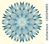 design with floral mandala... | Shutterstock .eps vector #1302696001