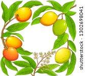 mango vector frame   Shutterstock .eps vector #1302698041