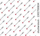 love arrows diagonal seamless... | Shutterstock .eps vector #1302700834