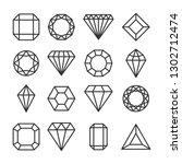 diamonds or brilliants cute... | Shutterstock .eps vector #1302712474