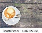 affogato coffee with ice cream...   Shutterstock . vector #1302722851