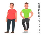 transformation of the male body.... | Shutterstock .eps vector #1302723487