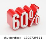 60   60 percent glossy red... | Shutterstock . vector #1302729511