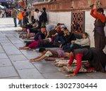 lhasa. tibet. 10.03.06. tibetan ... | Shutterstock . vector #1302730444