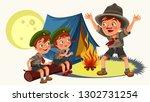 cartoon children mentor telling ...   Shutterstock .eps vector #1302731254