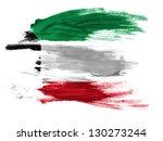 kuwait. kuwaiti flag  painted... | Shutterstock . vector #130273244