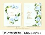 vintage wedding card template ... | Shutterstock .eps vector #1302735487