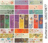 27 floral banners in vector.... | Shutterstock .eps vector #130273877