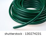 Green Hose Pipe On White...
