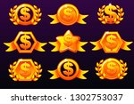gold templates dollar icons for ...