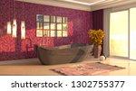 bathroom interior. 3d...   Shutterstock . vector #1302755377