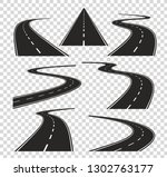 roads in perspective. bended... | Shutterstock .eps vector #1302763177
