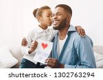 father's day. happy daughter...   Shutterstock . vector #1302763294