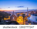 view of barcelone from the park ... | Shutterstock . vector #1302777247