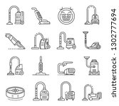 Vacuum Cleaner Icons Set....