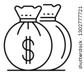 invest money bag icon. outline...