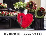 funeral  beautifully decorated... | Shutterstock . vector #1302778564