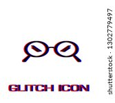 glasses icon flat. simple... | Shutterstock .eps vector #1302779497