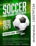 soccer tournament poster... | Shutterstock .eps vector #1302797134