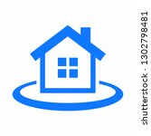 house  real estate icon | Shutterstock .eps vector #1302798481
