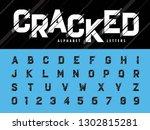 vector of glitch modern... | Shutterstock .eps vector #1302815281