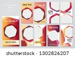 09 slides abstract unique... | Shutterstock .eps vector #1302826207