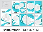 09 slides abstract unique... | Shutterstock .eps vector #1302826261