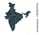 india map on white background... | Shutterstock .eps vector #1302829531