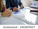 business people meeting design... | Shutterstock . vector #1302859027