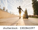 woman in flight stewardess... | Shutterstock . vector #1302861097