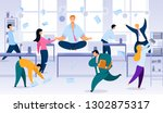 keeping calm and balance in... | Shutterstock .eps vector #1302875317