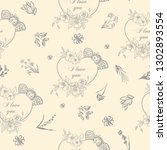 vintage hand drawn romantic...   Shutterstock .eps vector #1302893554