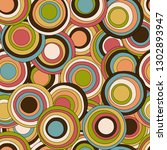 retro seamless pattern with...   Shutterstock .eps vector #1302893947