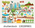 colorful ecology info graphic...   Shutterstock .eps vector #130289801