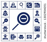 inspector icon set. 17 filled... | Shutterstock .eps vector #1302904051