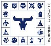 evil icon set. 17 filled evil...   Shutterstock .eps vector #1302911464