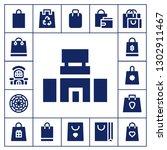 shopper icon set. 17 filled...   Shutterstock .eps vector #1302911467