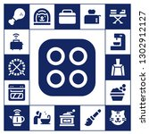 domestic icon set. 17 filled... | Shutterstock .eps vector #1302912127